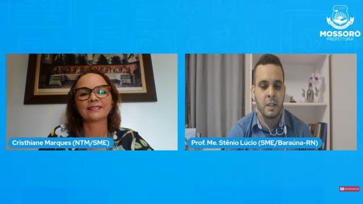 Live de Formação Continuada leva orientações para profissionais da educação sobre ferramenta digital