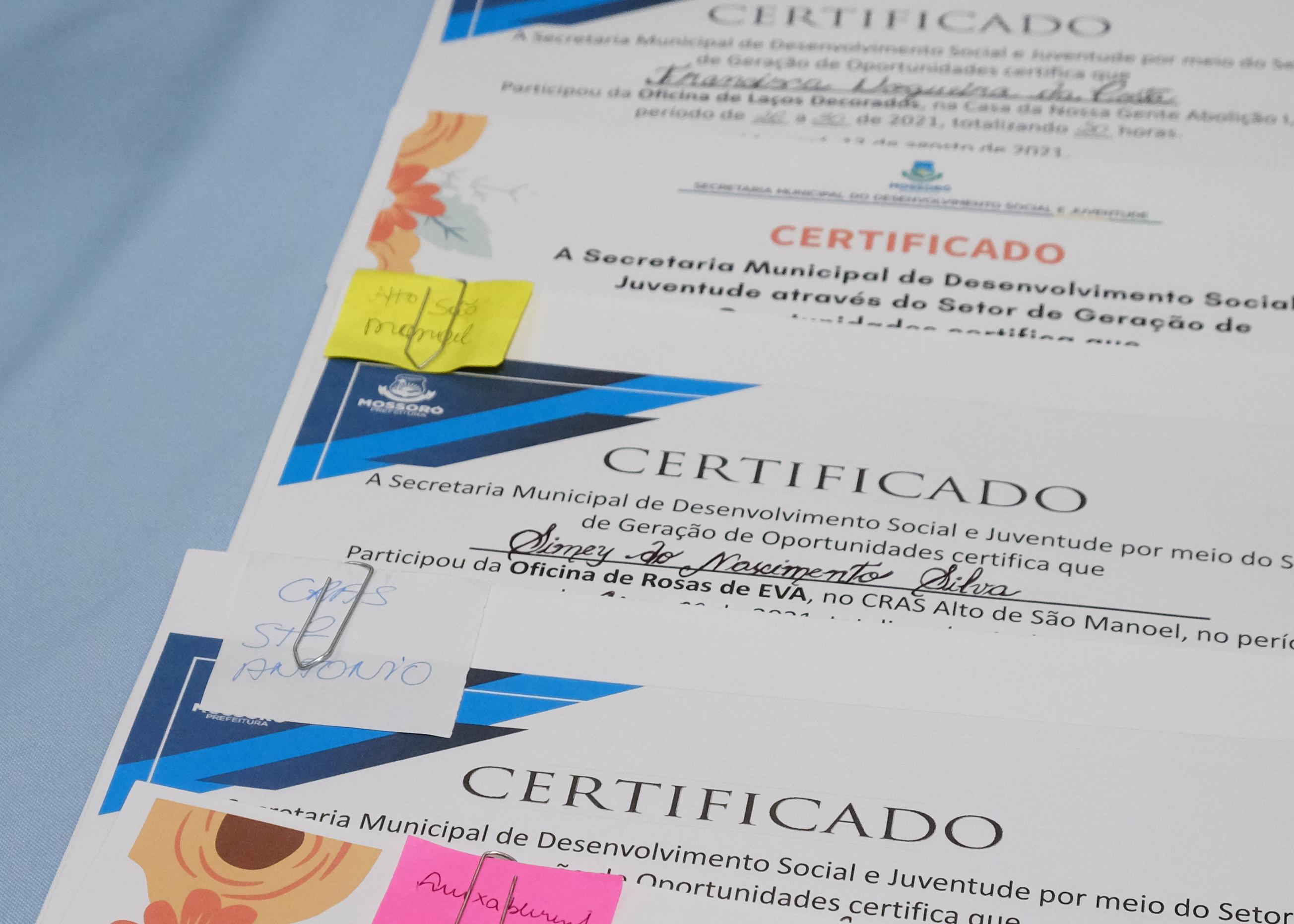 Geração de Oportunidades entrega mais de 60 certificados