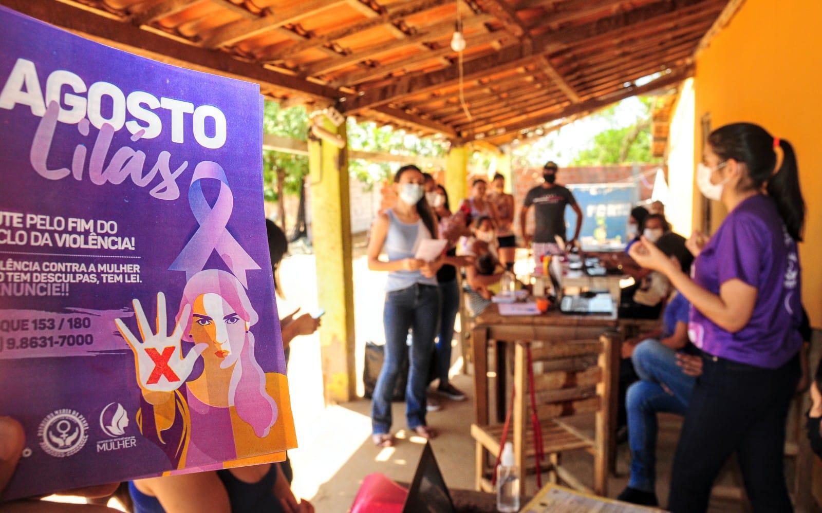 Centro de Referência da Mulher encerra ações da campanha Agosto Lilás