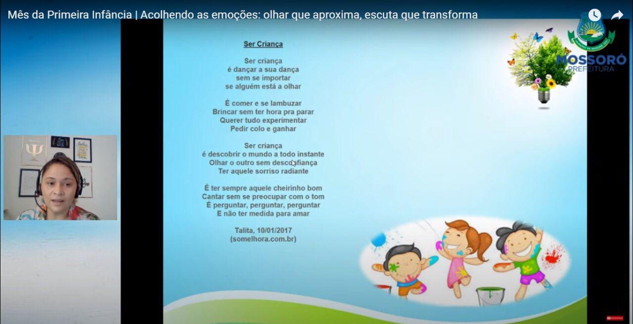 Profissionais discutem importância do acolhimento das emoções na primeira infância
