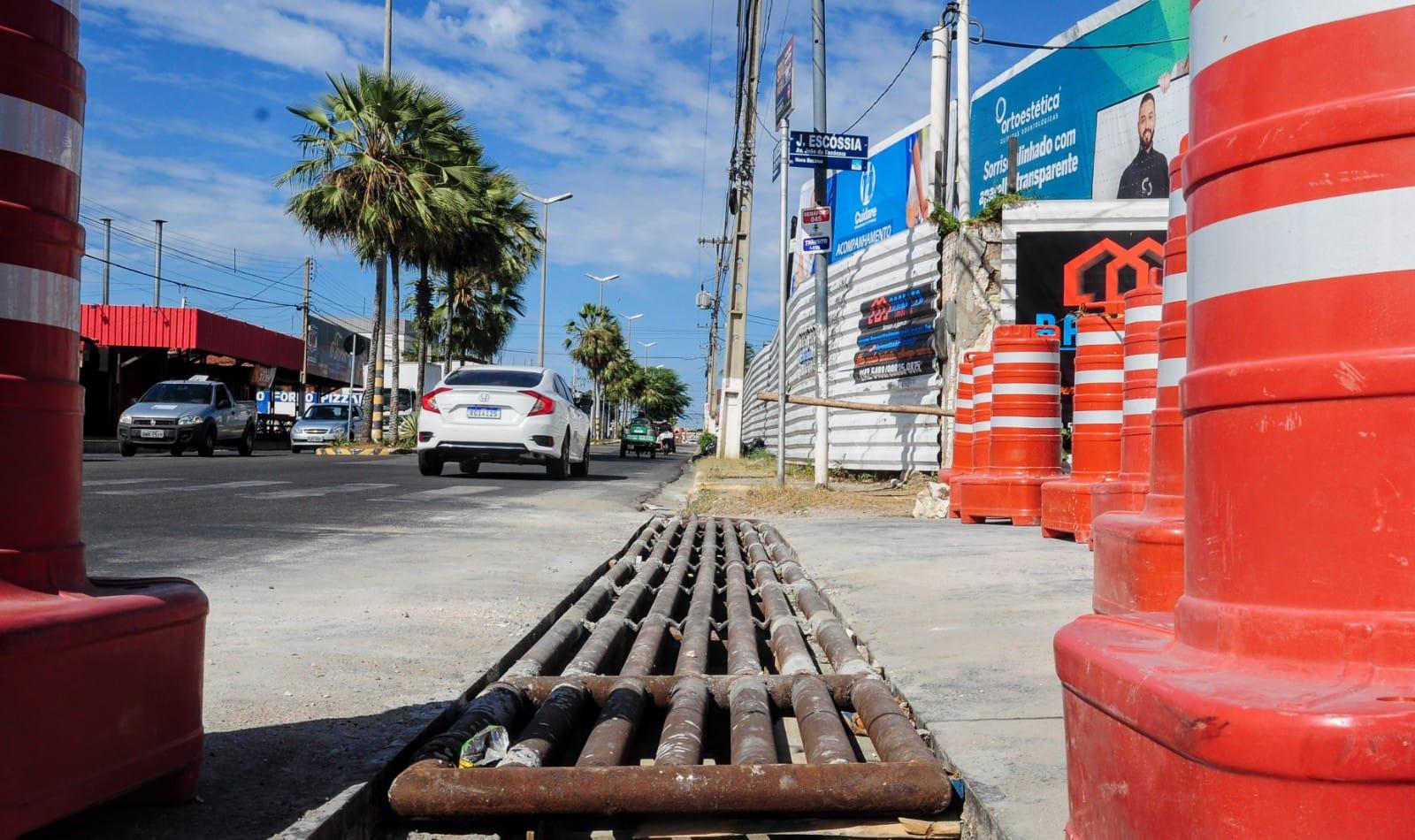 Obras de drenagem na Avenida João da Escóssia entram na fase final