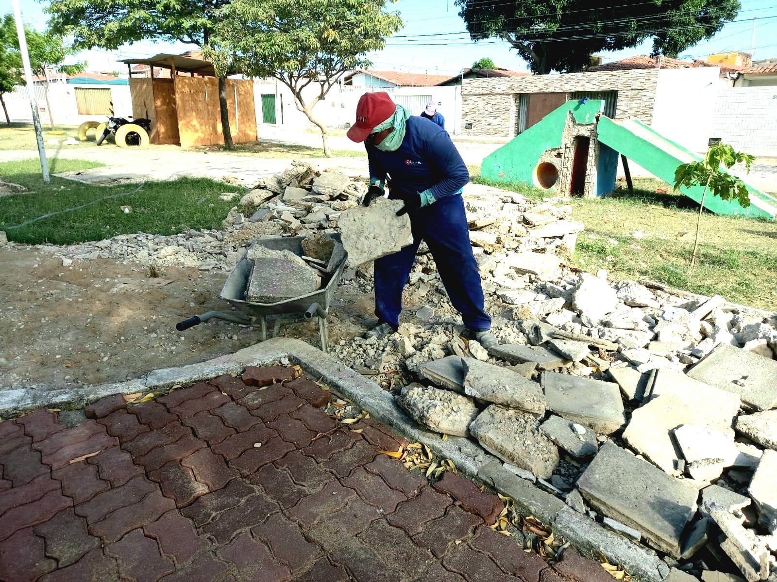Obras em praça do Abolição III ofertarão uma série de benefícios à comunidade