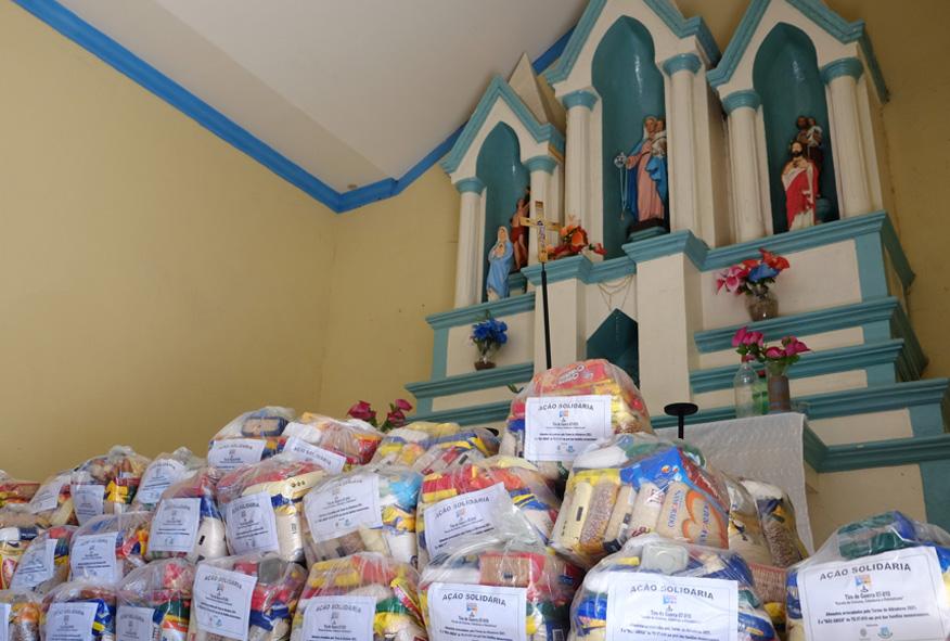 Famílias de comunidades rurais de Mossoró recebem complementação alimentar