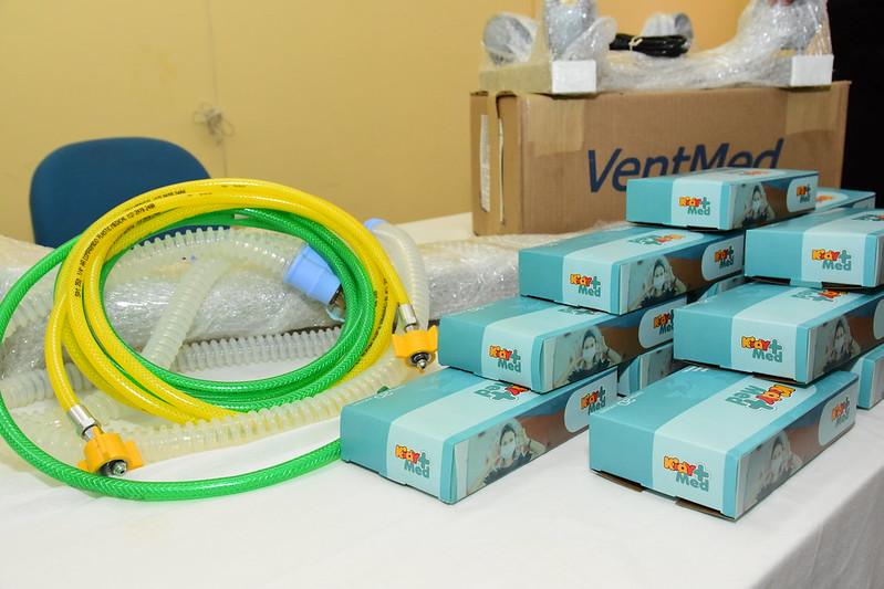 União BR doa ao município dois ventiladores mecânicos e 20.800 máscaras