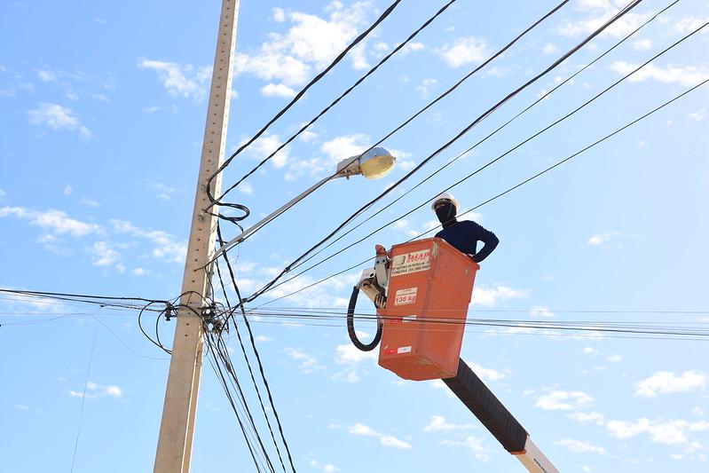 Mossoró avança na modernização da iluminação pública com lâmpadas de led