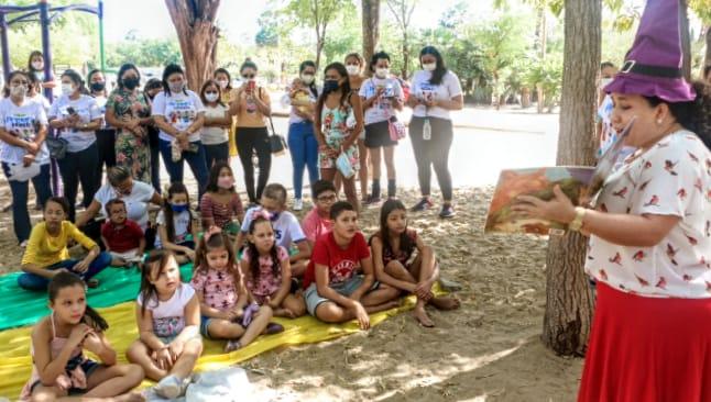 Mês da Primeira Infância é encerrado com atividades para as crianças no Parque Municipal