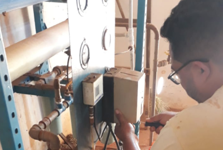 Secretaria realiza serviços em motor e bomba de três comunidades rurais