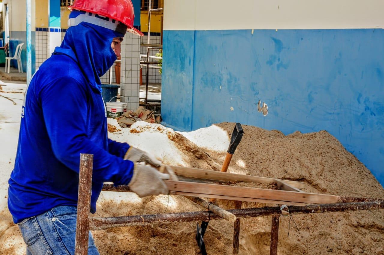 Município segue avançando com mutirão de obras em creches e escolas