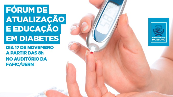 Fórum de Atualização e Educação em Diabetes acontece nesta sexta-feira (17)