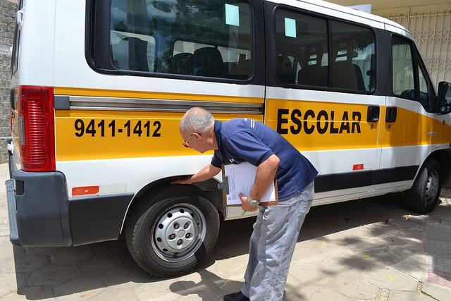 Vistoria de veículos de transporte escolar segue até 09 de fevereiro