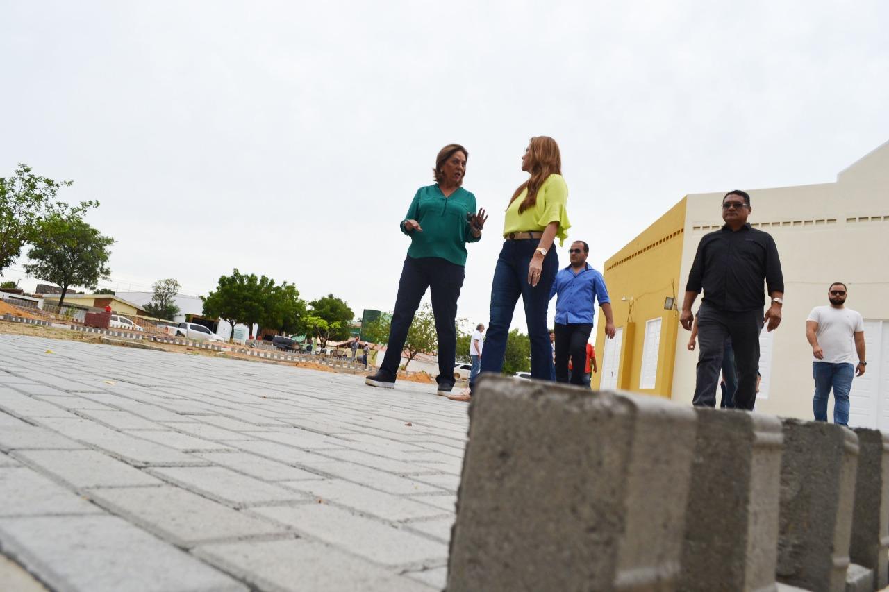 Prefeita Rosalba Ciarlini visita obras no Ulrick Graff