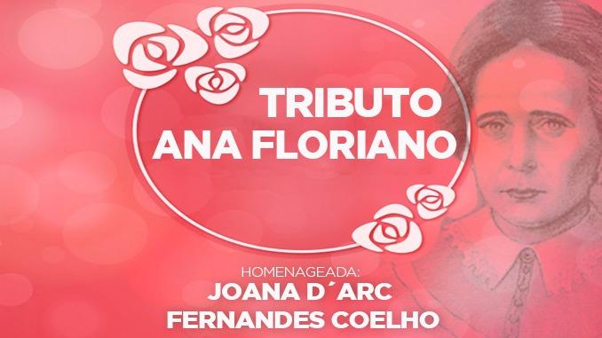 Joana D'arc Fernandes Coelho é homenageada com Troféu Ana Floriano
