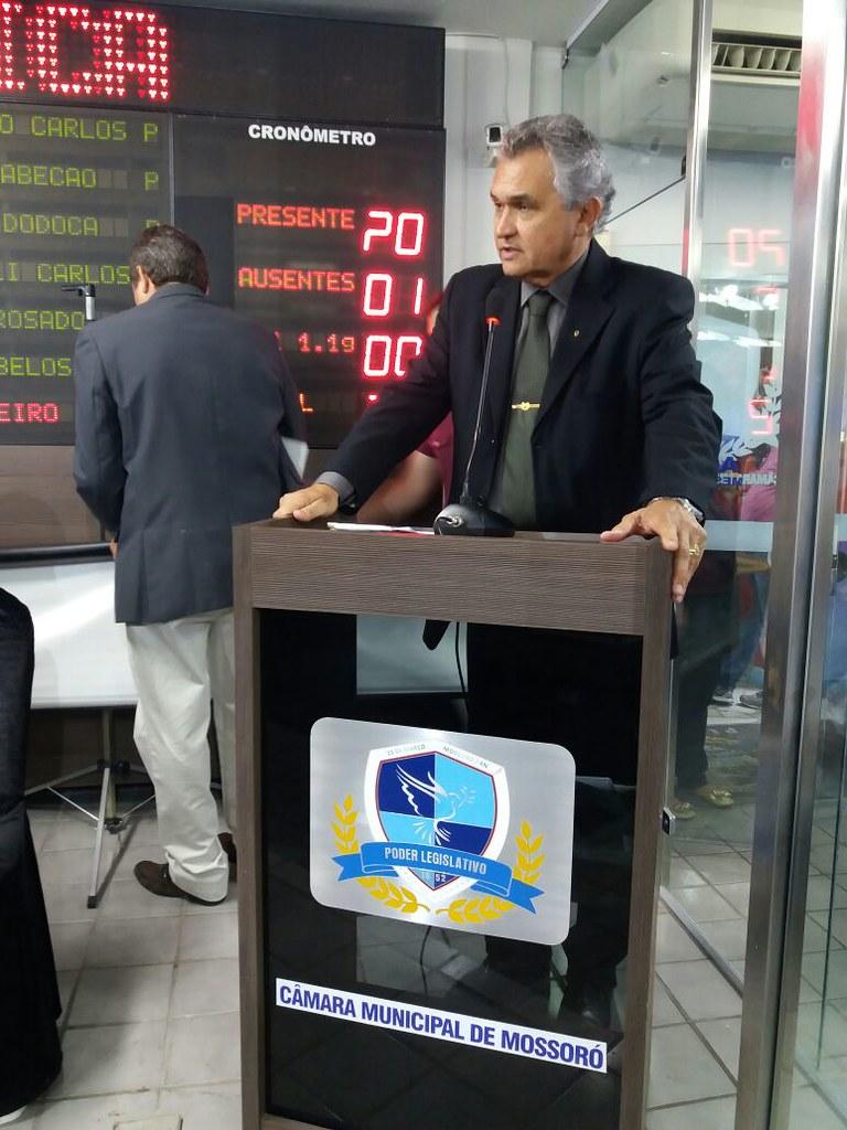 Secretário de Segurança, Defesa Civil, Mobilidade Urbana e Trânsito participa de audiência pública no plenário da Câmara Municipal de Mossoró