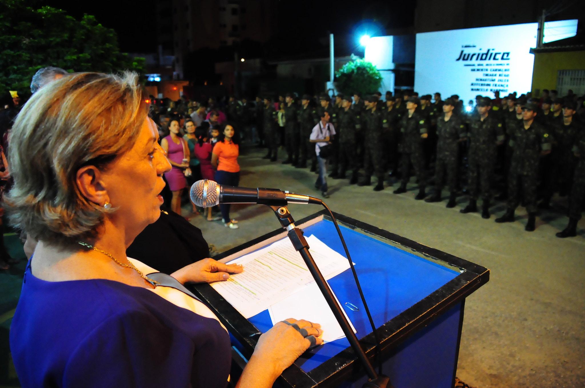 Prefeita Rosalba Ciarlini participa de recepção da turma de atiradores no TG 07-010