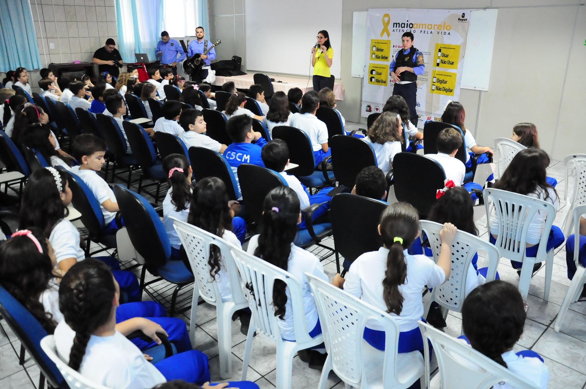 Palestras educativas em escolas integram programação do Maio Amarelo