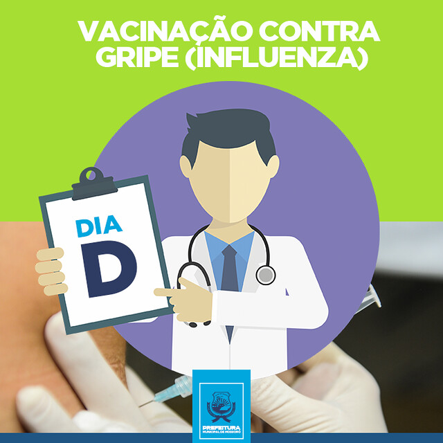Dia D de vacinação contra a influenza será no próximo sábado