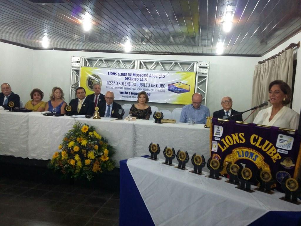 Prefeita Rosalba Ciarlini recebe homenagem do Lions Clube Abolição